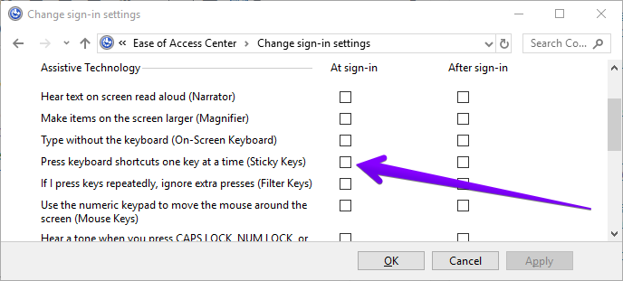 How to Enable or Disable Sticky Keys in Windows 10