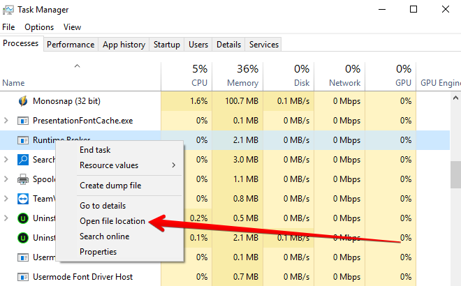 What is Runtime Broker? & Fix Error High CPU Usage