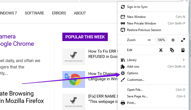 How To Change Home Page in Mozilla Firefox