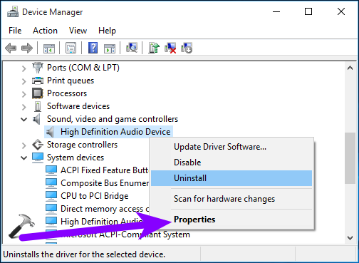 high definition audio device driver windows 10