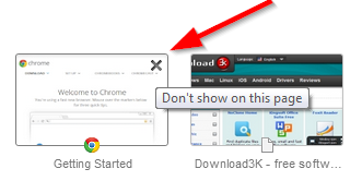 Remove Most Visited Thumbnails from Chrome New Tab Page