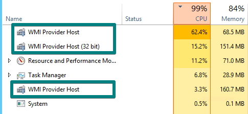 wmi provider host using a lot of cpu