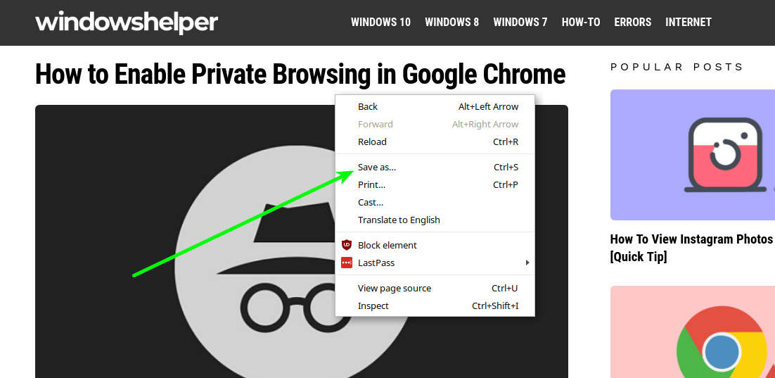How to Save Web Pages Offline To Read Them Later | WindowsHelper