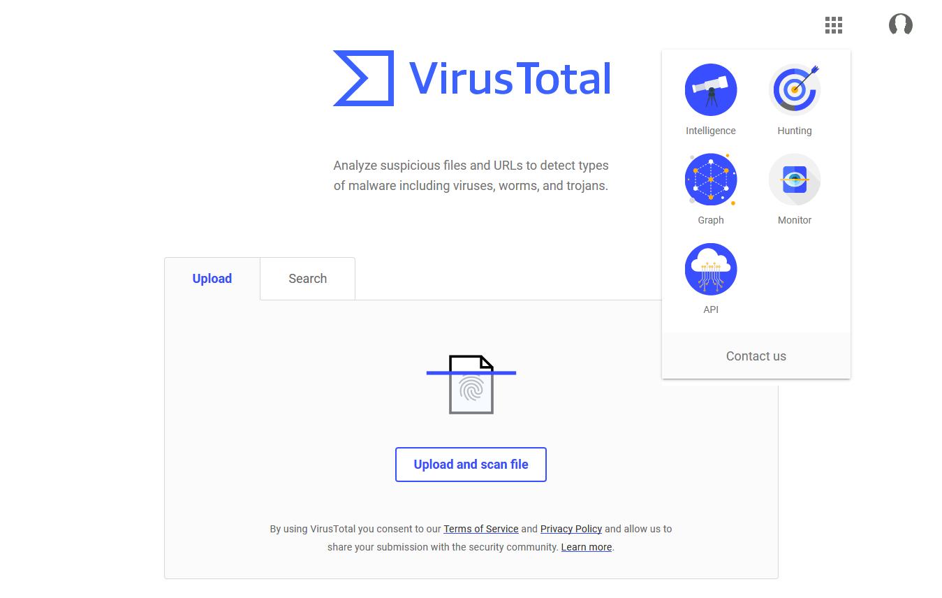 antivirus online scan file